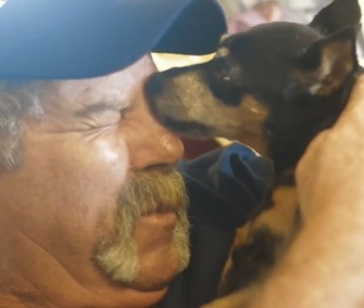 Firefighter Curtis Young credits his dog Sabrina with detecting his cancer, twice.