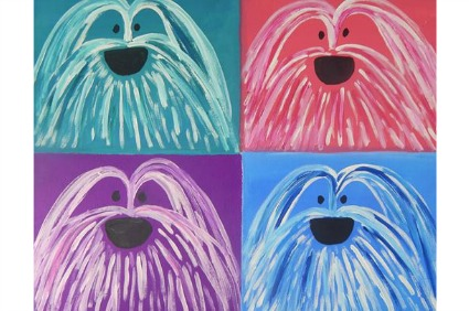Annie Blumenfeld's shaggy dog paintings