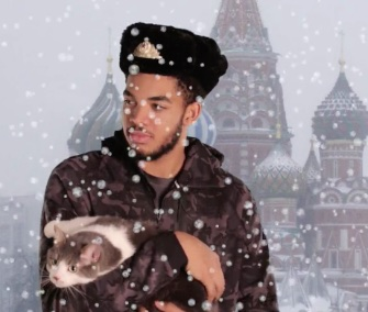 Karl-Anthony Towns, or KAT, appears in a viral video with a cat in an effort to gain NBA All-Star votes.
