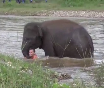 Kham Lha came to the rescue of her BFF, Save the Elephants founder Darrick Thomson.