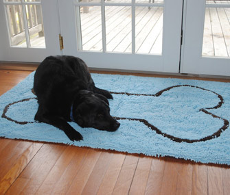 Buddy on Soggy Doggy Doormat