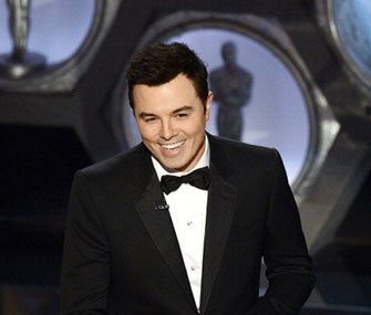 Seth MacFarlane hosts the Oscars.