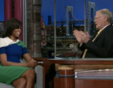 Michelle Obama talks about Bo on David Letterman's show