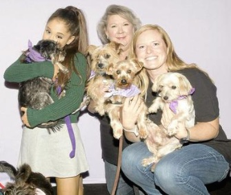 Ariana Grande adopted a Yorkie just before her show at the BOK Center in Tulsa, Oklahoma.