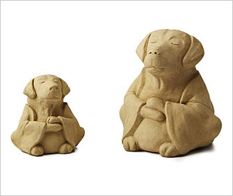 Dog zen sculptures