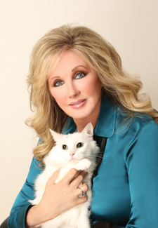 Morgan Fairchild HealthPet magazine cover photo