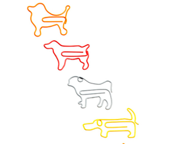 Dog paper clips