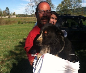 A dog rescued from a 30-foot hole was named Timmy after the little boy in the classic TV show Lassie.