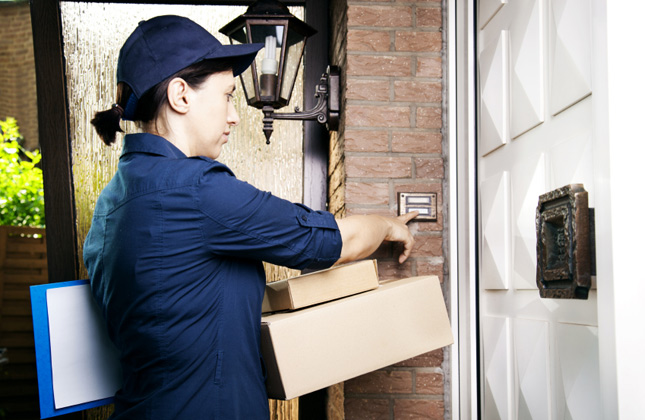 Person Delivering Packages