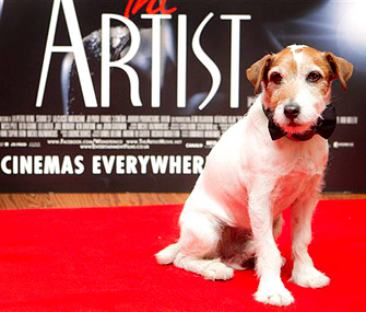 Uggie the Dog at at special screening of The Artist