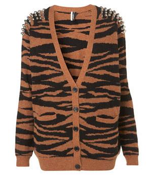 Topshop Tiger Cardigan
