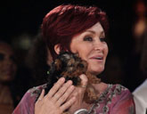 Sharon Osbourne with her dog