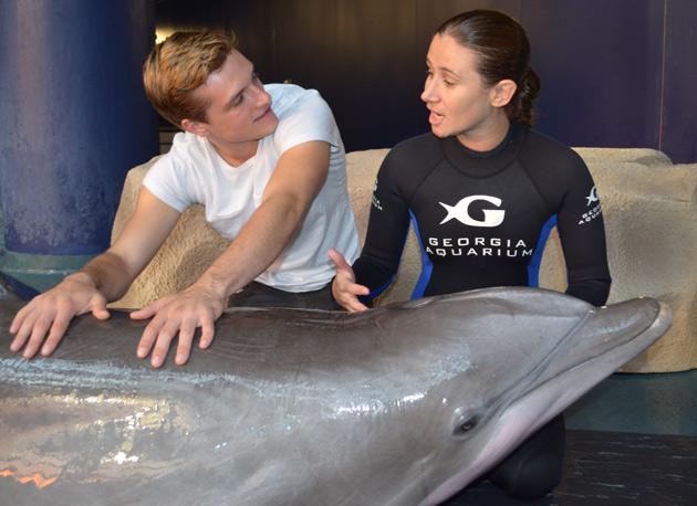 Josh Hutcherson at Georgia Aquarium