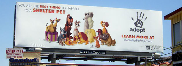 Lady and Tramp billboard