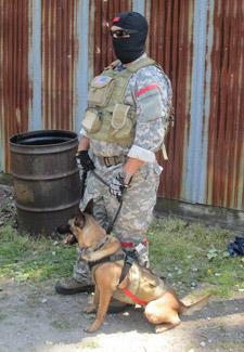 Alpha Dog and Handler