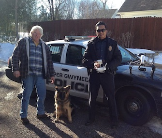 Officer Yin Young used his drone to track down Kai, a missing 10-month-old German Shepherd.