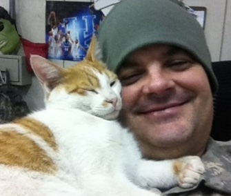 Army National Guard Staff Sergeant Daryl Casey is working to bring his beloved Kuwaiti cat home to Kentucky.