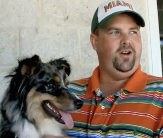 Bell was reunited with her owner, Matt Turner, after she was found 900 miles from home.
