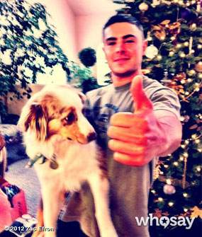 Zac Efron Puppy