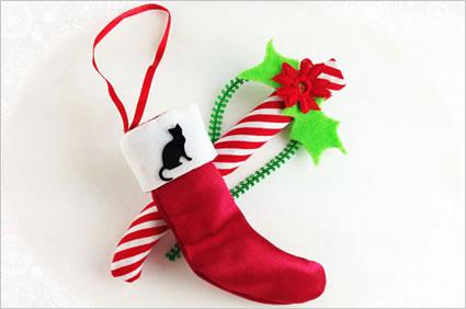 stocking cat toy