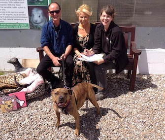 Freya got to go home with a new family Tuesday after spending all of her six years in a shelter.