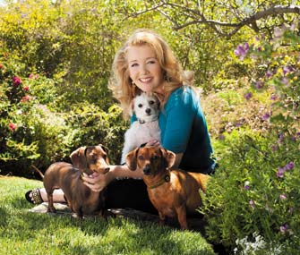 Melody Thomas Scott and her dogs