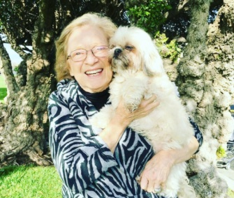 Jessica Chastain posted this photo of her grandmother with her dog after she was found.