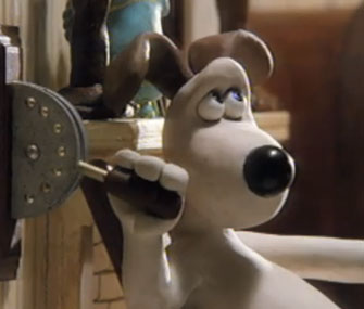 "Gromit in ""The Wrong Trousers"""