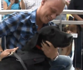 Veteran Marine Corporal Matt Foster was reunited with his retiring K9 partner Mick Thursday.