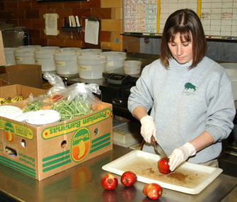 Brookfield Zoo Staffer Preparing Food