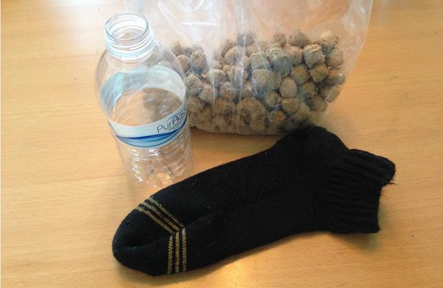 Homemade sock toy
