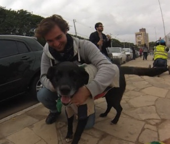 Negro was reunited with his owner, Ignacio (Nacho) Etchetchury, in Brazil last weekend.
