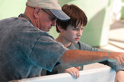 Dolphin Tale Director Charles Martin Smith on set