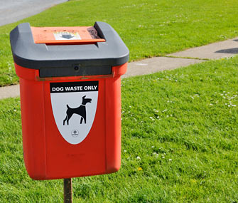 Dog waste receptacle
