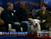 Rescued dog Max bit interviewer Kyle Dyer