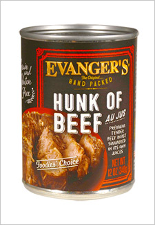 Evanger's hunk of beef dog food
