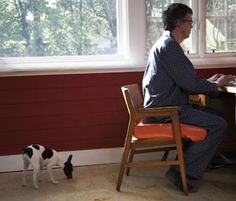 Man Ignoring Dog