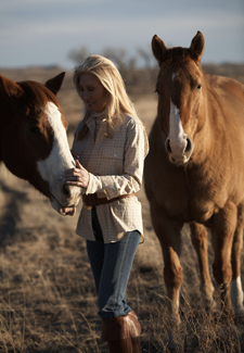 Woman with horses