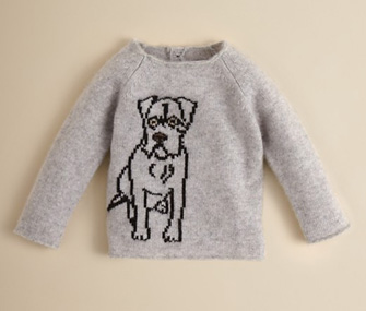 Spoil Your Little Girl With This Burberry Cashmere Dog-Print Baby ...