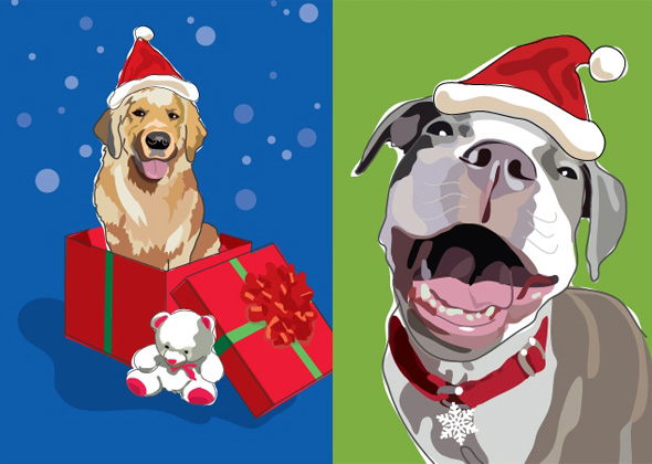 10 christmas gifts for dog lovers and dogs - Dog Holiday Cards
