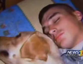 Soldier and dog Cooper honored