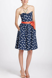 anthropologie horse dress