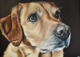 Kim Sears Dog Art