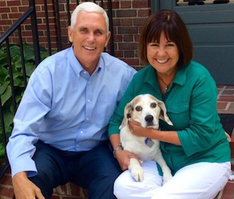 Gov. Mike Pence and his wife, Karen, are mourning the loss of their Beagle, Maverick.