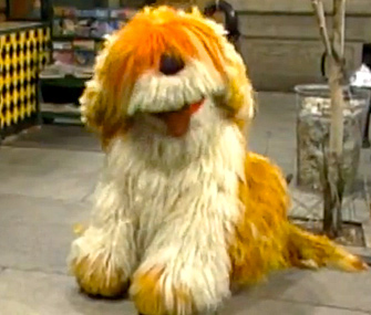 Barkley from Sesame Street
