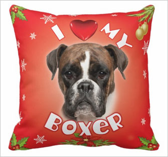 boxer breed pillow