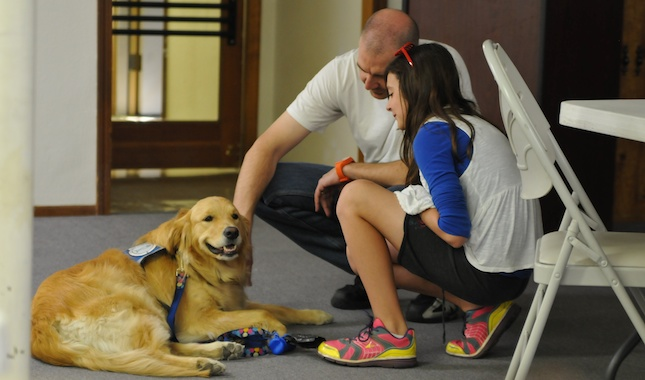 A K9 Comfort Dog from the Lutheran Church Charities makes a visit to Arizona.