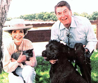 President Reagan and Pets
