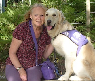 Edward the Superdog and his owner Wendy Hilling