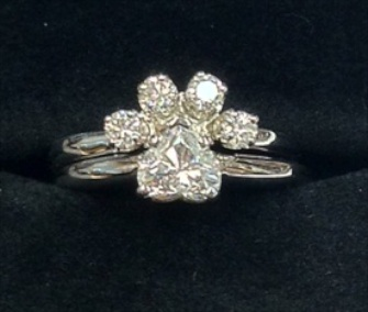 Mervis paw diamond engagement ring